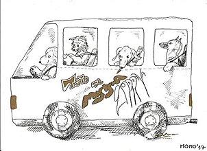 Obrázky - Autobus so psíkmi -- fixka - 8931410_