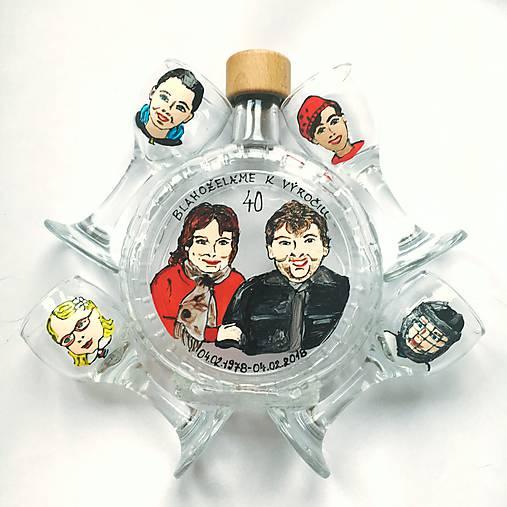 Ručne maľovaná fľaša portréty/karikatúrky na želanie