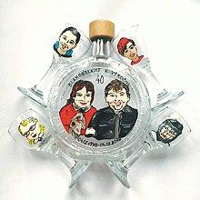 Nádoby - Ručne maľovaná fľaša portréty/karikatúrky na želanie - 8930875_