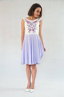 Šaty - Fialové vyšívané šaty - 8930955_