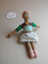 Gombíková bábika Ruženka.
