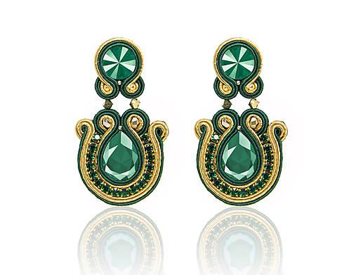 9bb3c2271 Smaragdové náušnice / bazu - SAShE.sk - Handmade Náušnice