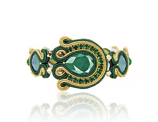 de23dbd10 Smaragdový náramok / bazu - SAShE.sk - Handmade Náramky