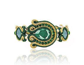 Náramky - Smaragdový náramok - 8934537_