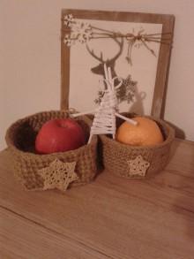 Košíky - Vianočné košíčky - 8934012_