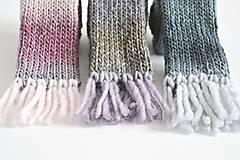 Detské doplnky - Detský vlnený šál - fialový melír - 8932623_