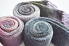 Detské doplnky - Detský vlnený šál - fialový melír - 8932625_