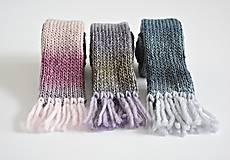 Detské doplnky - Detský vlnený šál - fialový melír - 8932630_