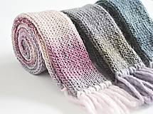 Detské doplnky - Detský vlnený šál - fialový melír - 8932632_
