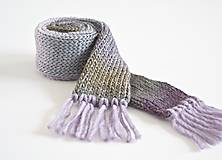 Detské doplnky - Detský vlnený šál - fialový melír - 8932634_