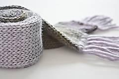 Detský vlnený šál - fialový melír