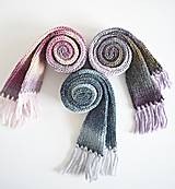 Detské doplnky - Detský vlnený šál - fialový melír - 8932636_