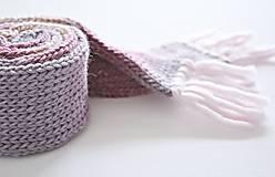 Detský vlnený šál - ružový melír