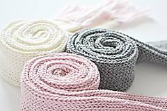 Detské doplnky - Detský pletený šál - sivý - 8934190_