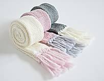 Detské doplnky - Detský pletený šál - sivý - 8934191_
