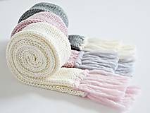 Detské doplnky - Detský pletený šál - sivý - 8934197_