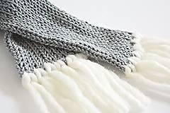 Detské doplnky - Detský pletený šál - sivý - 8934198_
