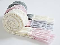 Detský pletený šál - prírodný