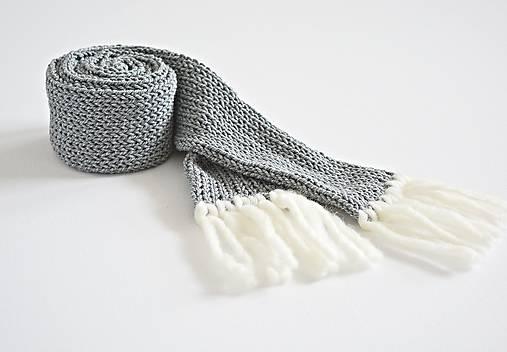 Detský pletený šál - sivý