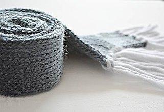 Detské doplnky - Detský vlnený šál - modrý melír - 8932583_