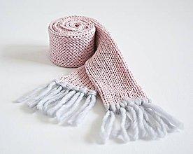 Detské doplnky - Detský pletený šál - ružový - 8934231_