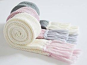 Detské doplnky - Detský pletený šál - prírodný - 8934315_