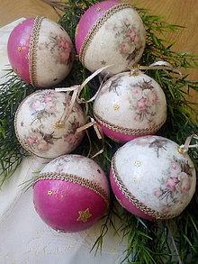 Dekorácie - Veľké vianočné vintage gule / zľavnené! - 8931553_