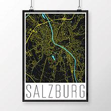 Obrazy - SALZBURG, moderný, čierny - 8932501_