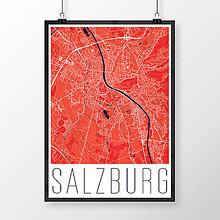 Obrazy - SALZBURG, moderný, červený - 8932994_