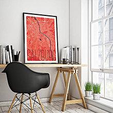 Obrazy - SALZBURG, elegantný, červený - 8933021_