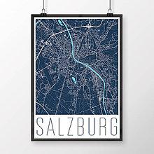 Obrazy - SALZBURG, moderný, tmavomodrý - 8933416_