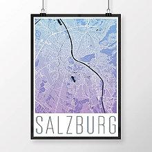 Obrazy - SALZBURG, moderný, modro-fialový - 8933732_