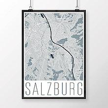 Obrazy - SALZBURG, moderný, svetlomodrý - 8933953_