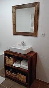 """Nábytok - Stolík pod umývadlo """" staré dosky """" - 8931027_"""