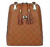 Kožený ruksak z pravej hovädzej kože v horčicovej farbe