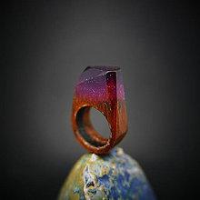 Prstene - Drevený prsteň: Ametystová noc - 8932995_