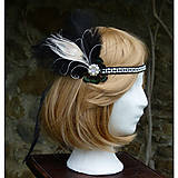Ozdoby do vlasov - Čelenka s pštrosími a pávím perom - 8934214_