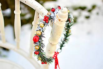 Ozdoby do vlasov - Vianočný venček - 8932600_