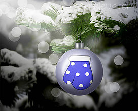 Grafika - Vianočná guľa (grafický obrázok) - rukavica - 8932124_