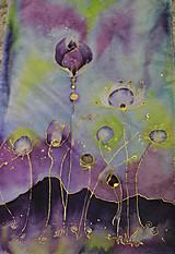 "Šály - Maľovaný hodvábny šál ""Fragility"" - 8931970_"
