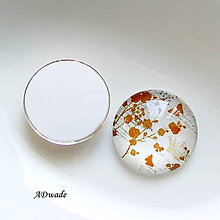 Iný materiál - 510 Kabošon sklenený - 8938229_