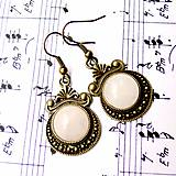 Náušnice - Ornaments & Gemstone Earrings / Bronzové náušnice s ornamentmi /0435 - 8937513_