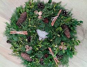 Dekorácie - vianocny veniec - 8938603_