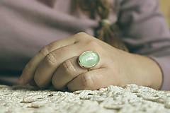 Prstene - Strieborný minimalistický prsteň s akvamarínom - Aqua I. - 8937715_