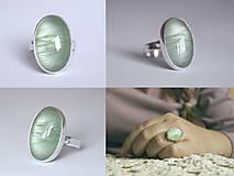 Prstene - Strieborný minimalistický prsteň s akvamarínom - Aqua I. - 8937720_
