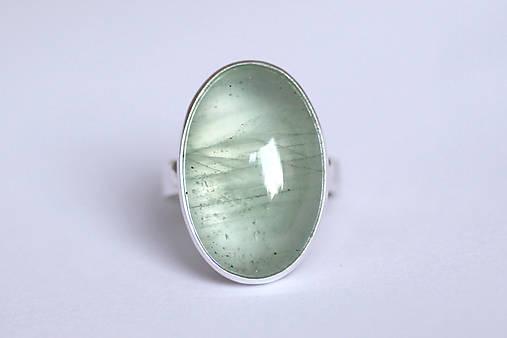 Strieborný minimalistický prsteň s akvamarínom - Aqua I.