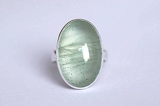 Prstene - Strieborný minimalistický prsteň s akvamarínom - Aqua I. - 8937716_
