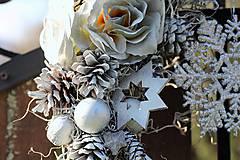 Dekorácie - Zimný venček - 8936889_