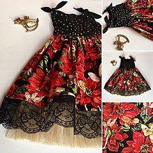 Detské oblečenie - Zlato-čierne vílové vianočné - 8937960_