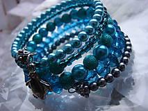 Náramky - náramky (Modrá) - 8935835_